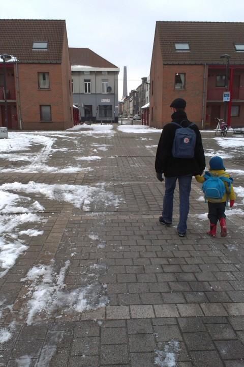 Sint-Baafsdorp, sneeuwvrij plein