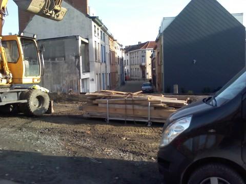 Zicht richting Spijkstraat december 2013