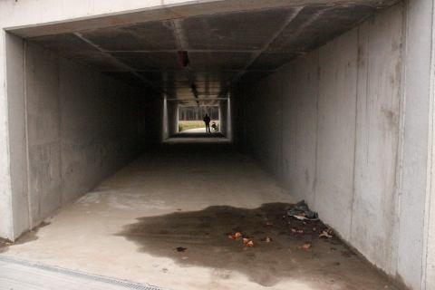 01jan14, 15u51, nieuwe fietstunnel Kennedylaan
