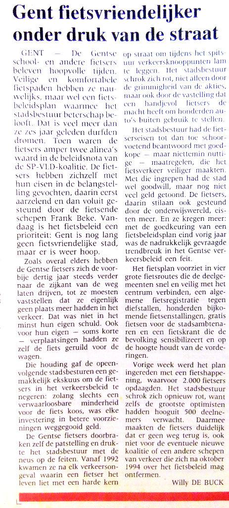 De Gentenaar, 19 mei 1994