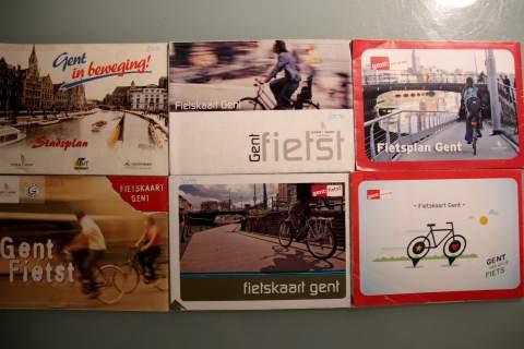fietskaarten 2000, 2004, 2007, 2009, 2012, 2014